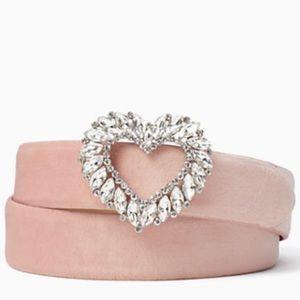 kate spade stone heart belt